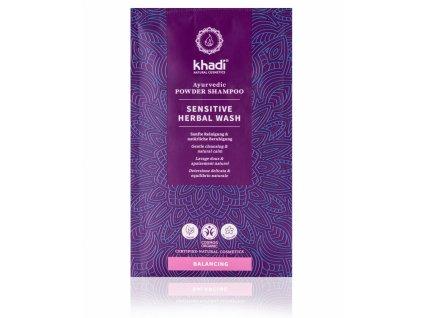 sensitive herbal wash - práškový šampón Khadi| Zdravienka e-shop