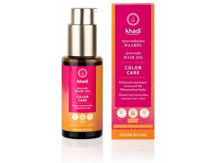 Novinka - vlasový olej color care - starostlivosť o farbené vlasy  - Khadi   Zdravienka e-shop