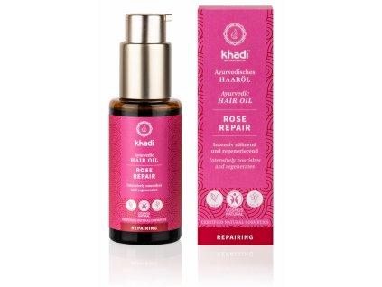 vlasovy olej reparácia s ružou 50 ml - Khadi | Zdravienka e-shop