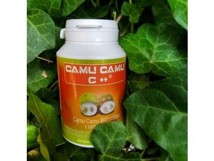 Výživový doplnok s najvyšším obsahom vitamínu C, z plodov camu camu c++ z ekologického poľnohospodárstva, balený v kapsulách 500mg z rastlinnej celulózy.