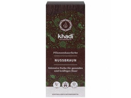 khadi rastlinna farba na vlasy orieskovo hneda - Zdravienka e-shop