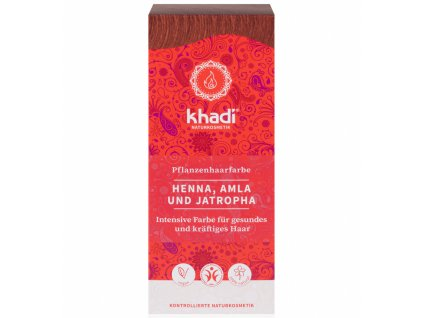 khadi rastlinna farba na vlasy henna a amla a jatropha - zdravienka e-shop