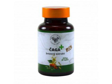 Čaga PLUS - Chaga s brezovým extraktom - Medicinálne huby