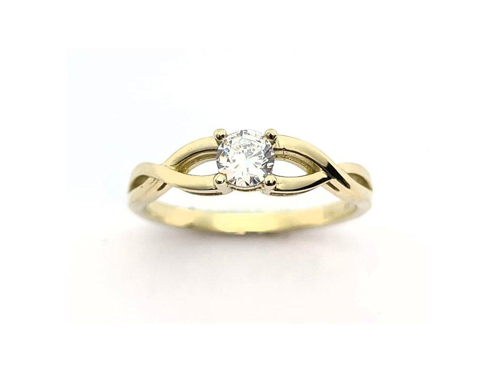 zasnubni prsten zlute