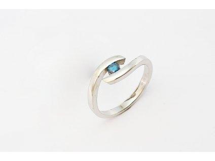 prsten diamant modry22