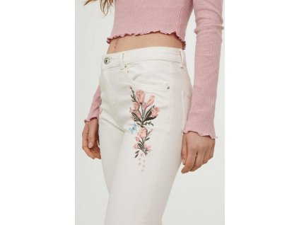womens embroidered slim fit pants natural whiteflowers h 003