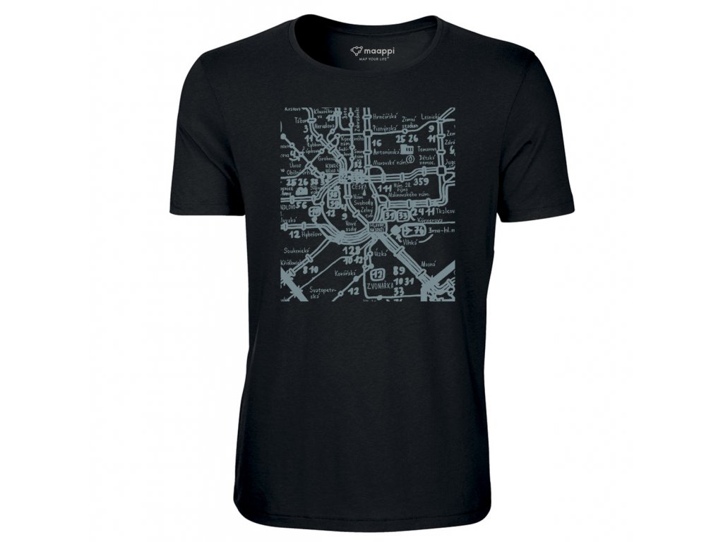 Black T-shirt CITY EDITION - Brno