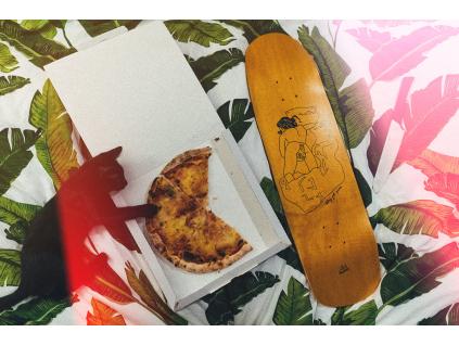 "Cruiser Pizza orange 8.6"" + grip"