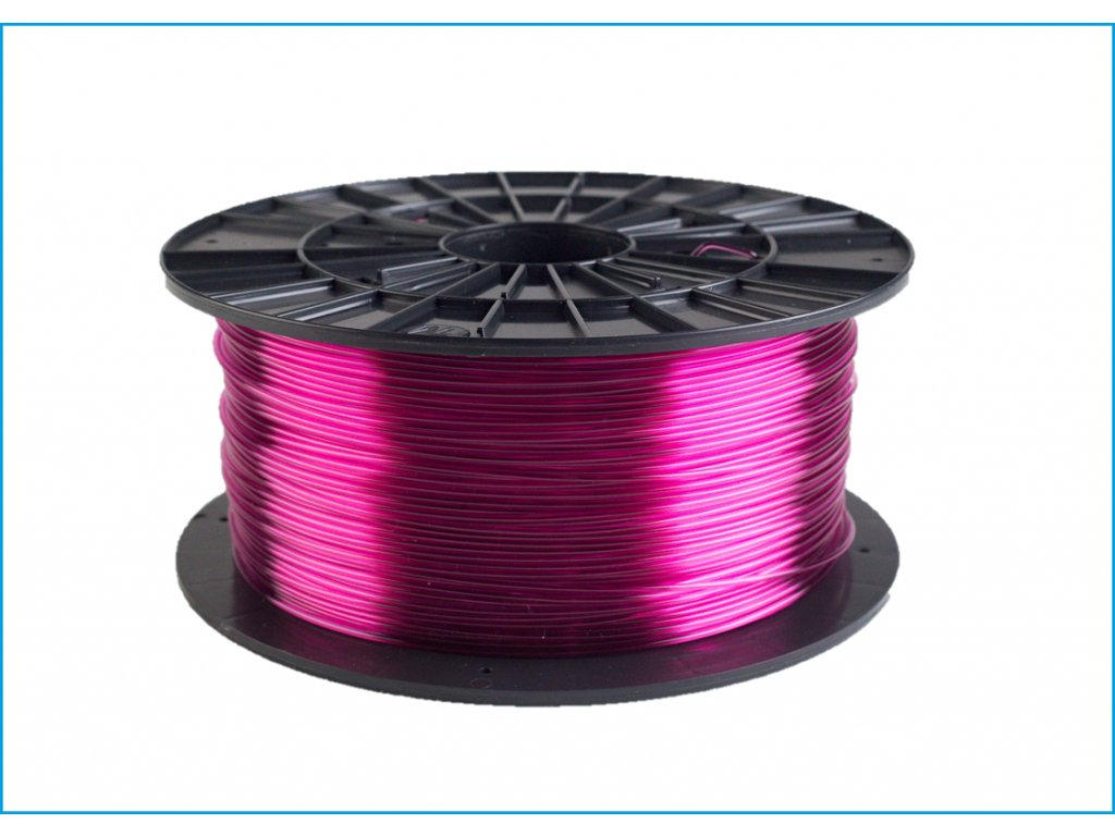 Filament-PM PET-G tisková struna fialová transp 1,75 mm 1 kg Filament PM