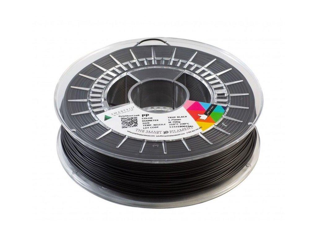 PP filament černý 1,75 mm Smartfil 700 g