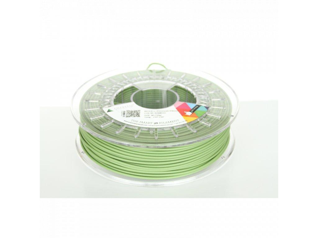 WOOD filament zelený bambus 1,75 mm Smartfil 750 g