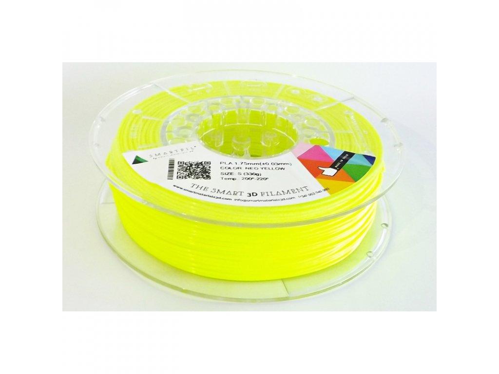 PLA filament neonově žlutý 1,75 mm Smartfil 330g Cívka: 0,33 kg