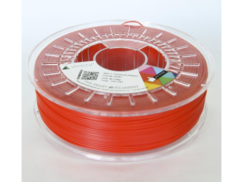 ABS filament rubínově červený 1,75 mm Smartfil 1kg