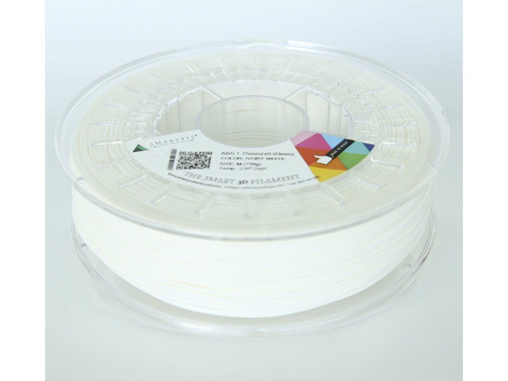 ABS filament bílý ivory 1,75 mm Smartfil 1kg