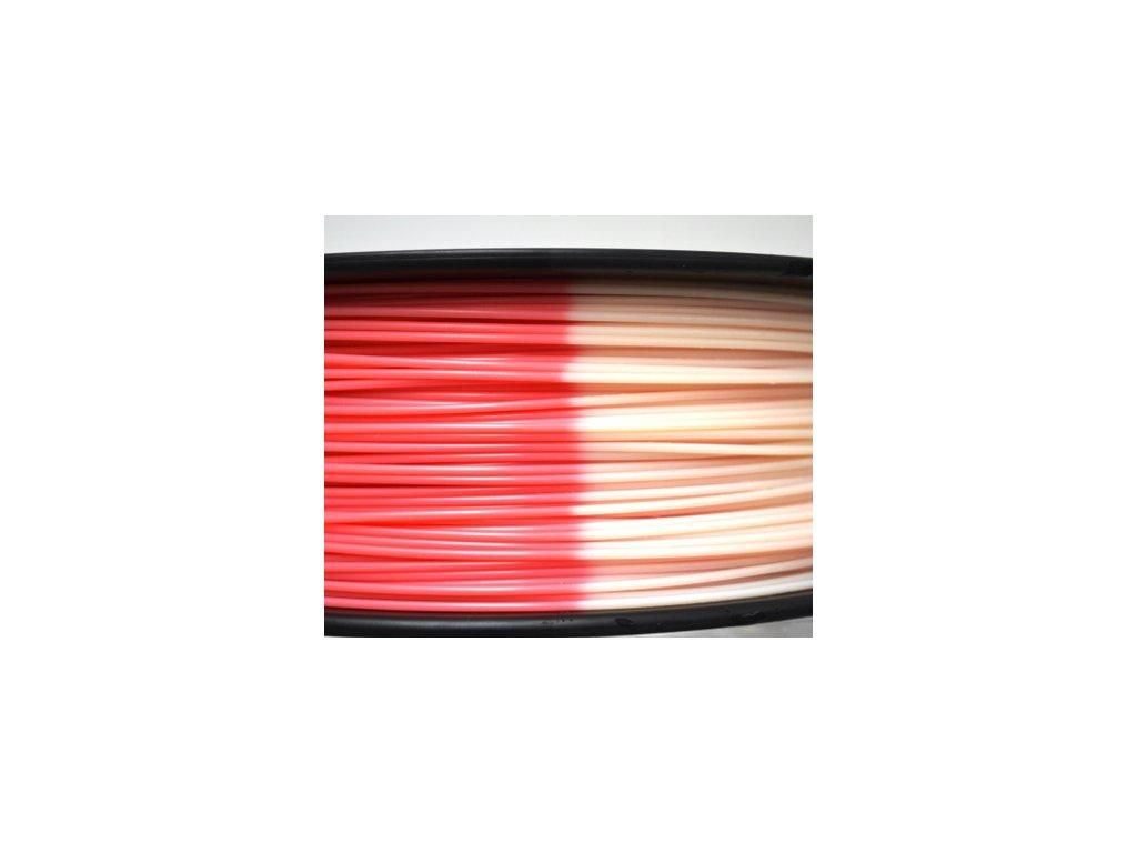 ABS Tech-Line filament termosensitivní červená/bílá 1,75 mm Herz 1 kg