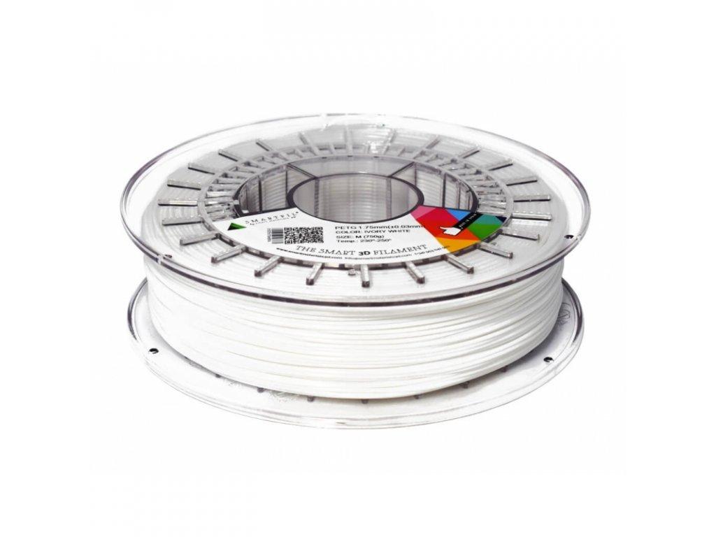 PETG filament bílá 1,75 mm Smartfil 750 g