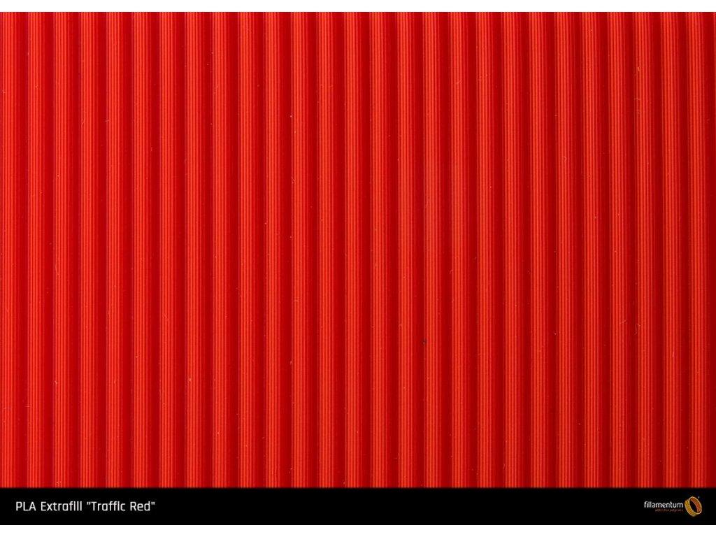 PLA filament Extrafill červený Traffic Red 1,75mm 2500g Fillamentum