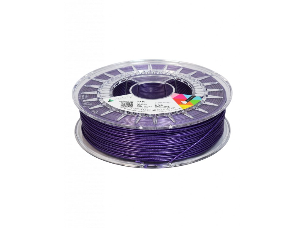PLA filament třpytivý fialový glitter violet 1,75 mm Smartfil 750g