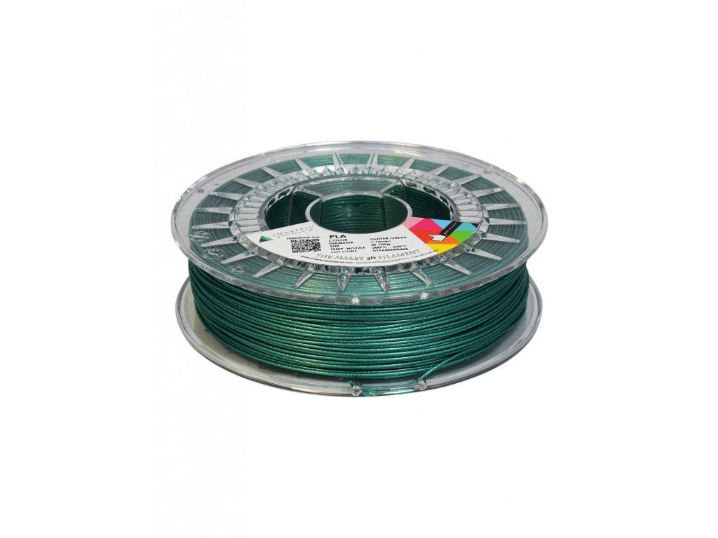 PLA filament třpytivý zelený glitter green 1,75 mm Smartfil 750g