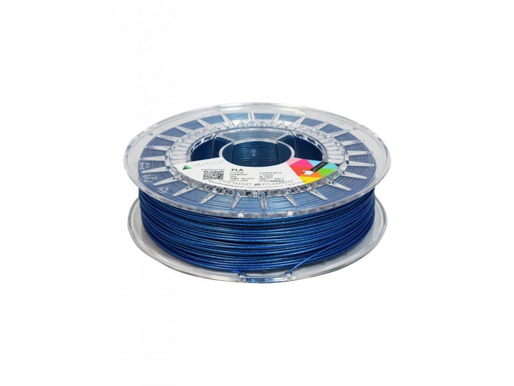 PLA filament třpytivý modrý glitter blue 1,75 mm Smartfil 750g