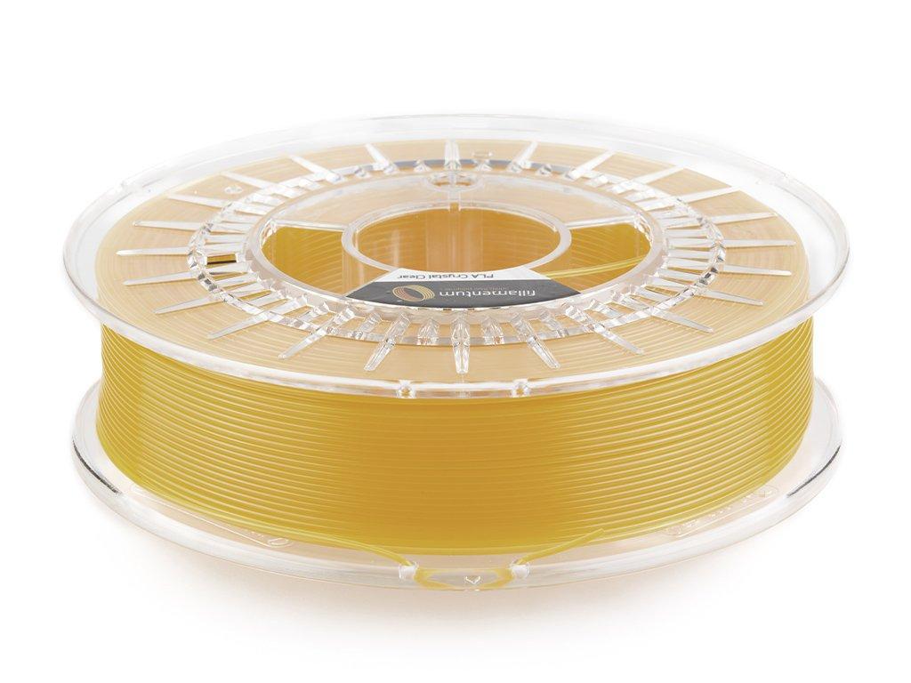 PLA Crystal Clear Tangerine Orange 1,75mm 750g Fillamentum