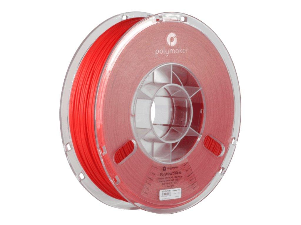PLA PolyMax filament červený 1,75mm Polymaker 750g