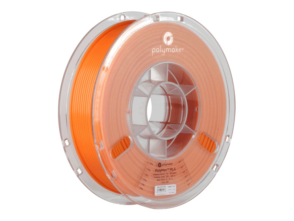 PLA PolyMax filament oranžový 1,75mm Polymaker 750g