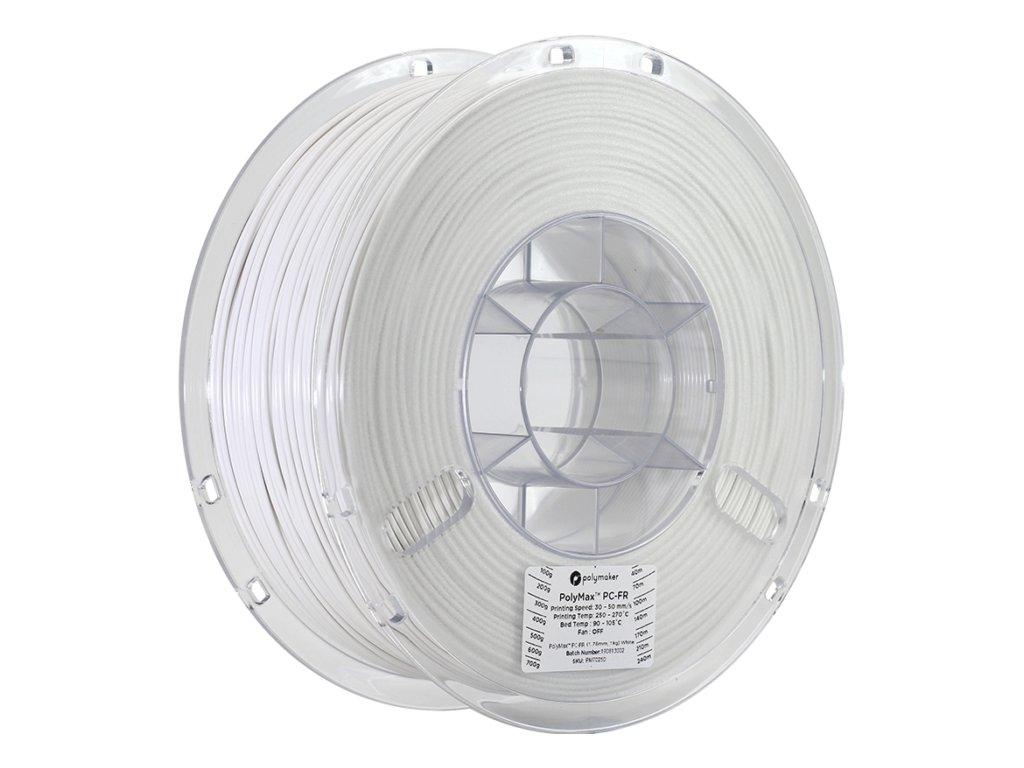 PC-FR PolyMax samozhášivý filament bílý 1,75mm Polymaker 1kg
