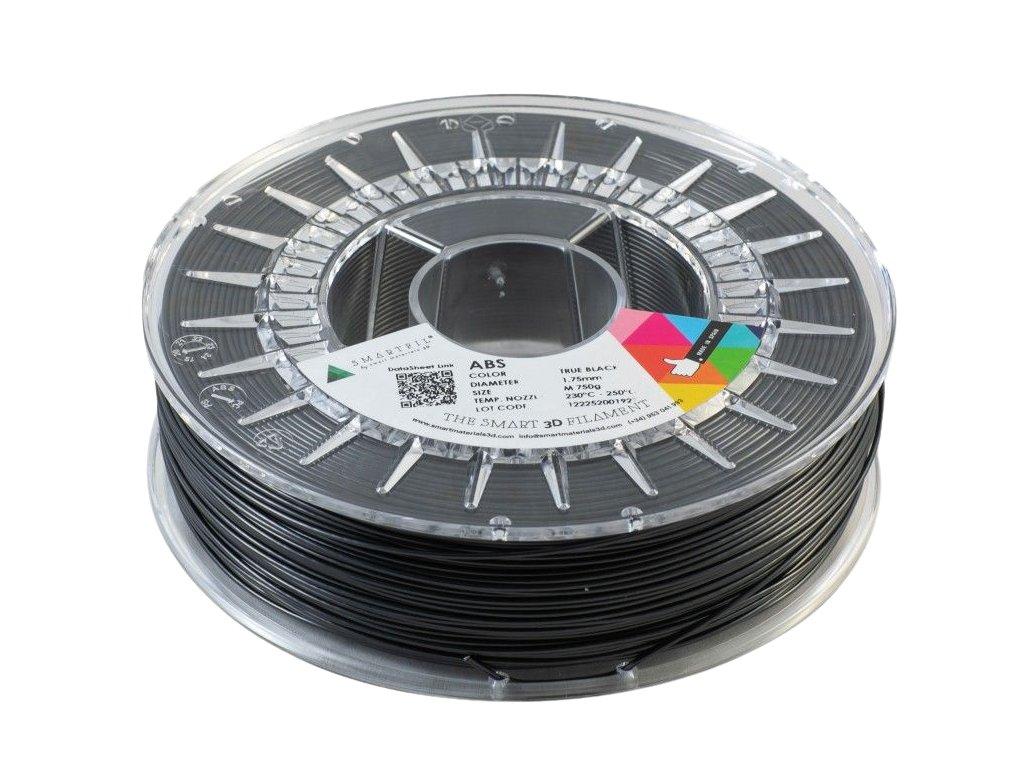 ABS filament černý 1,75 mm Smartfil 1kg Cívka: 1 kg