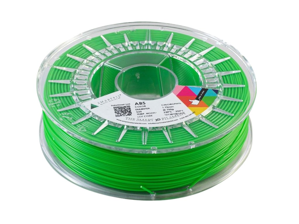 ABS filament zelený Chlorofyl 1,75 mm Smartfil Cívka: 0,75 kg