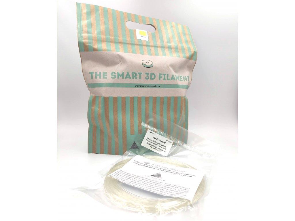 VZOREK 20 METRŮ - GLACE filament natural průhledný 1,75 mm Smartfil