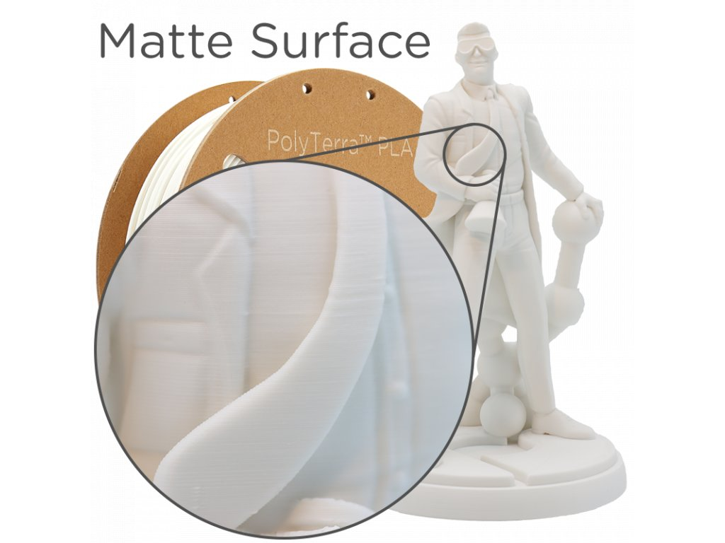 PLA PolyTerra filament bílá bavlna 1,75mm Polymaker 1000 g