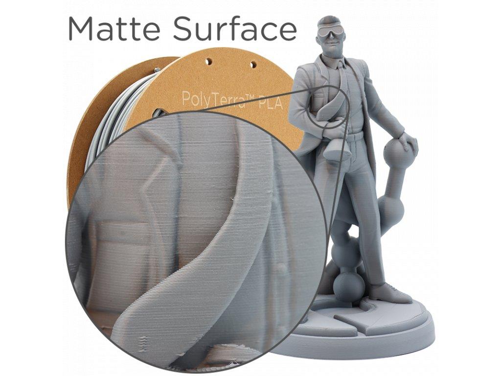 PLA PolyTerra filament fosilní šedý 1,75mm Polymaker 1000 g