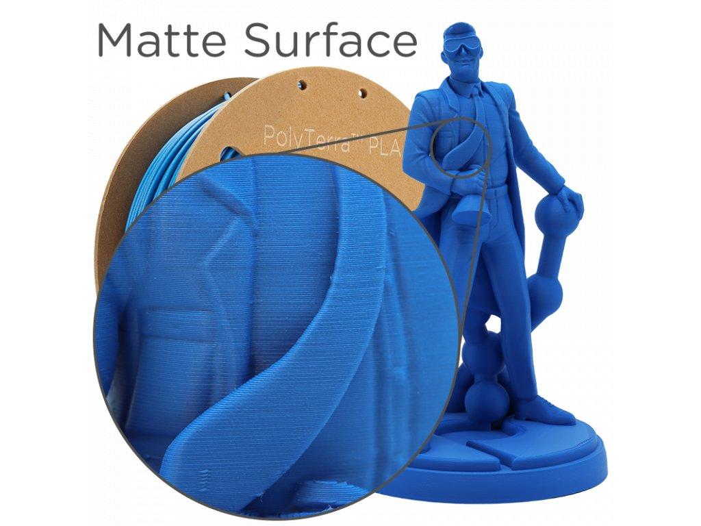 PLA PolyTerra filament safírově modrý 1,75mm Polymaker 1000 g