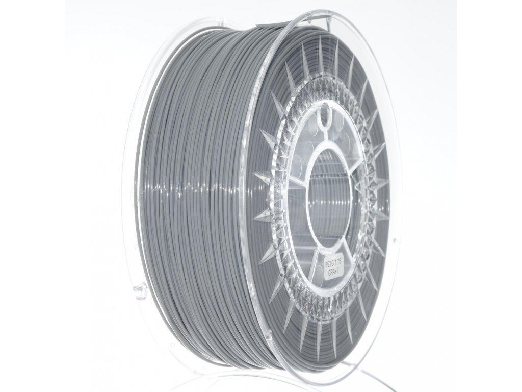 PET-G filament 1,75 mm šedý Devil Design 1 kg