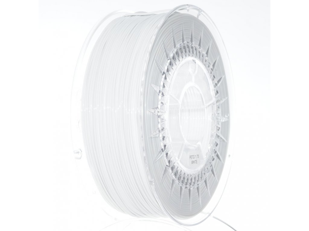 PET-G filament 1,75 mm bílý Devil Design 1 kg