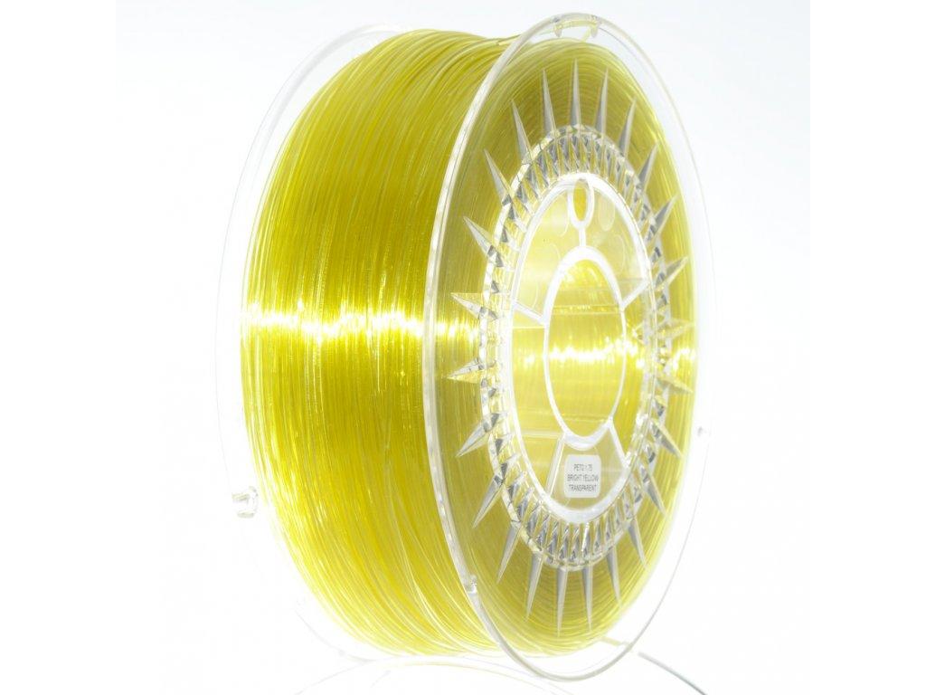 PET-G filament 1,75 mm žlutý transparent Devil Design 1 kg