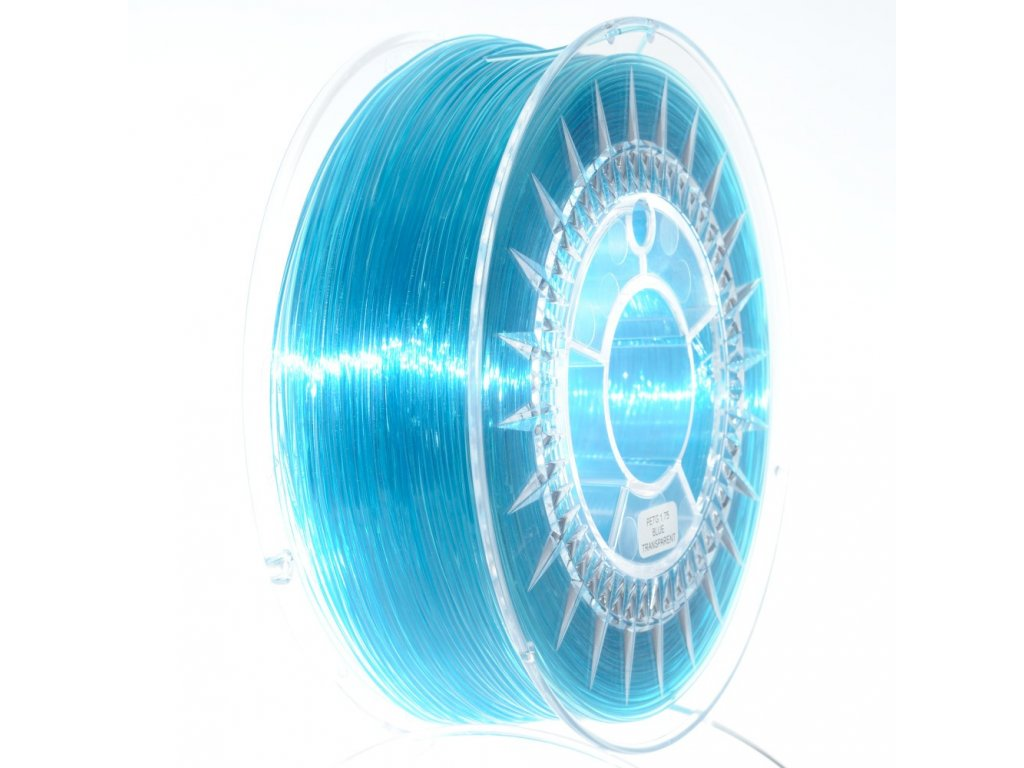 PET-G filament 1,75 mm modrý transparent Devil Design 1 kg