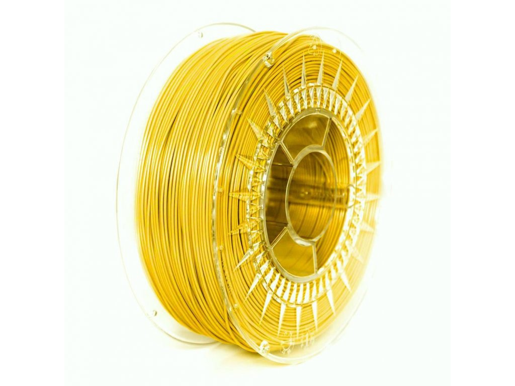 PET-G filament 1,75 mm jasný žlutý Devil Design 1 kg