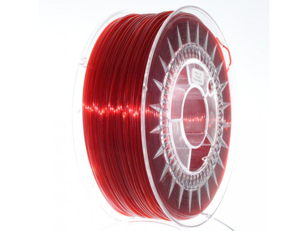 PET-G filament 1,75 mm rubínově červený transp. Devil Design 1 kg