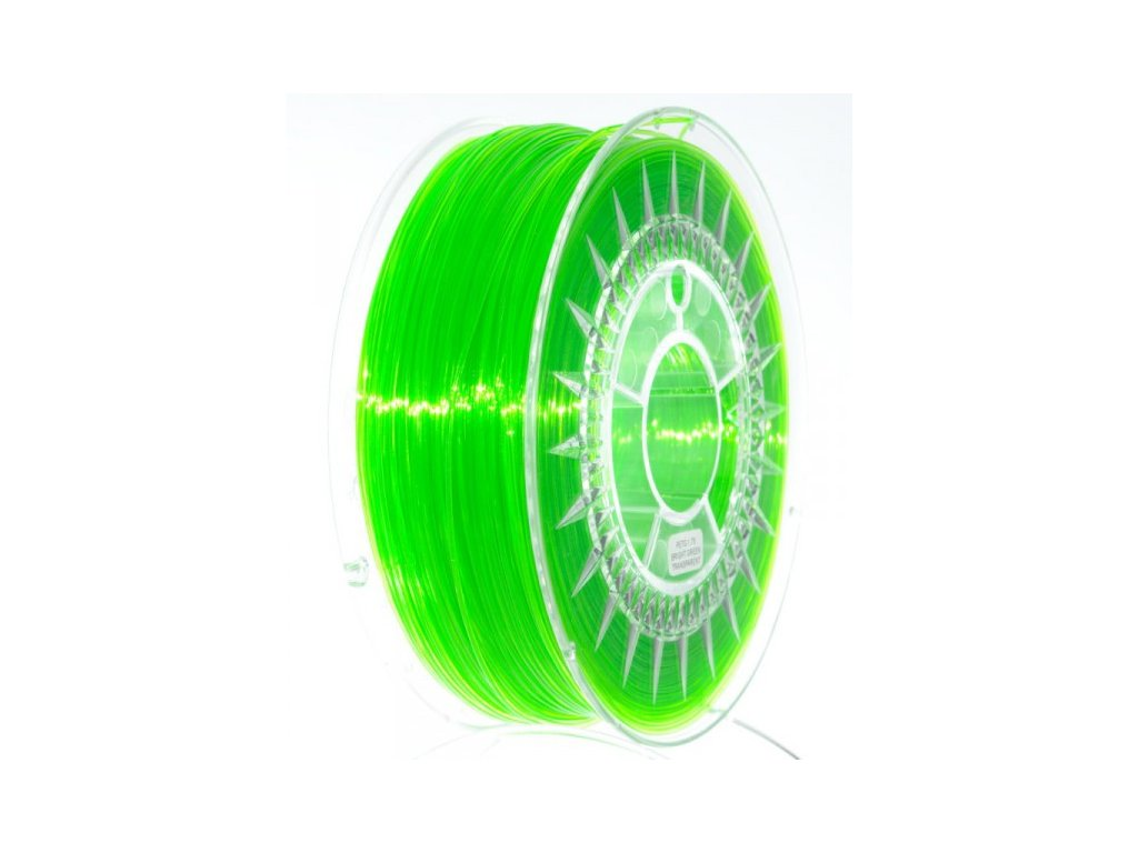 PET-G filament 1,75 mm jasně zelený transparent Devil Design 1 kg