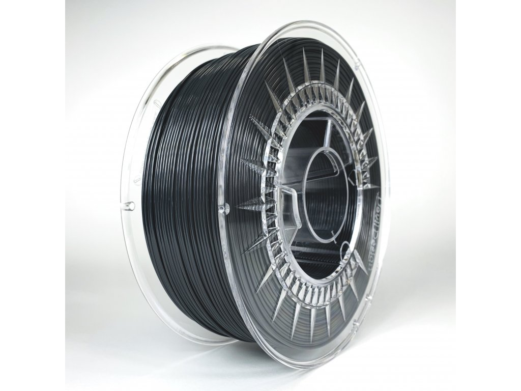 PET-G filament 1,75 mm tmavě šedý Devil Design 1 kg