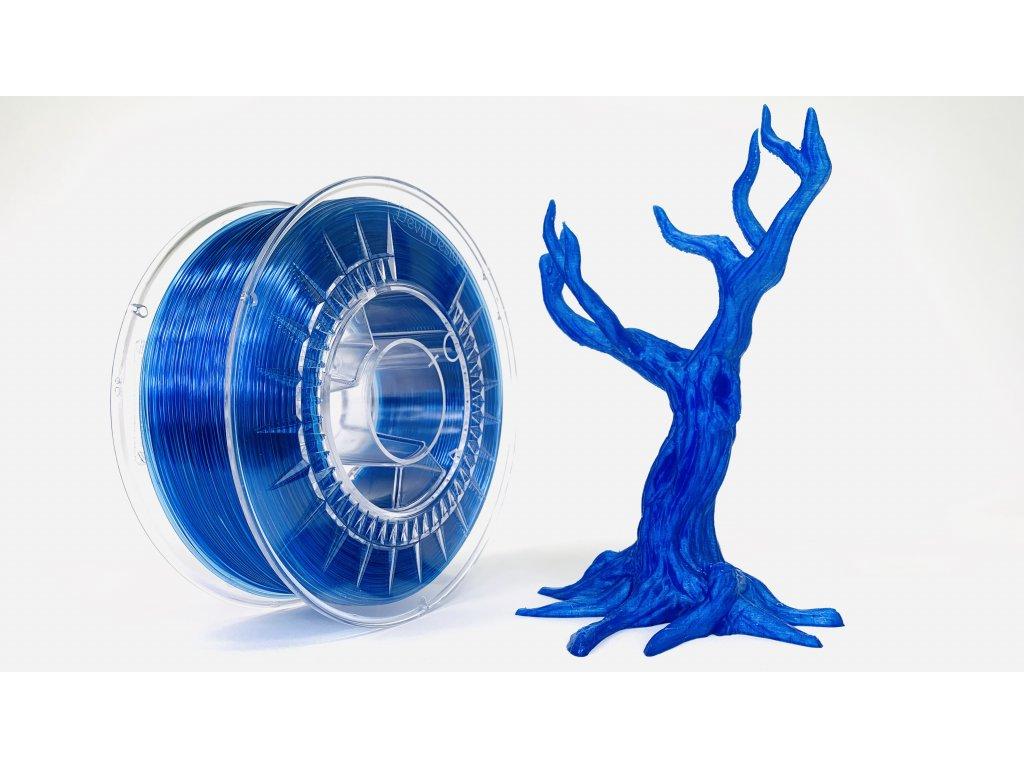 PET-G filament 1,75 mm super modrý transparetní Devil Design 1 kg
