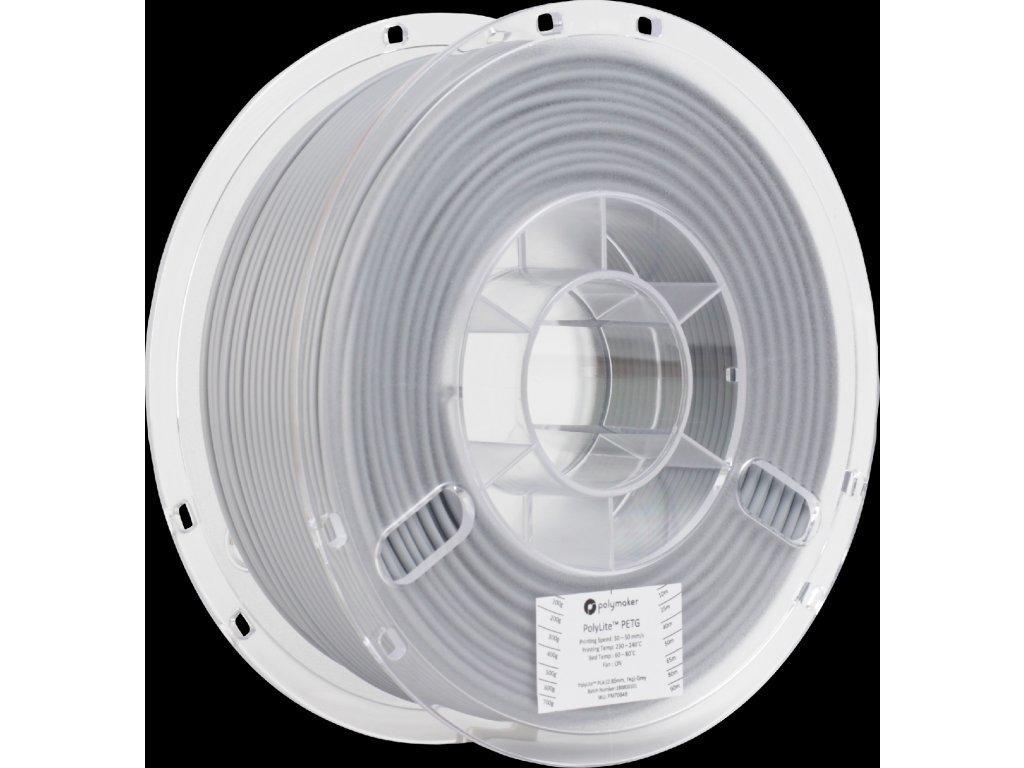 PETG PolyLite filament šedý 1,75mm Polymaker 1 kg
