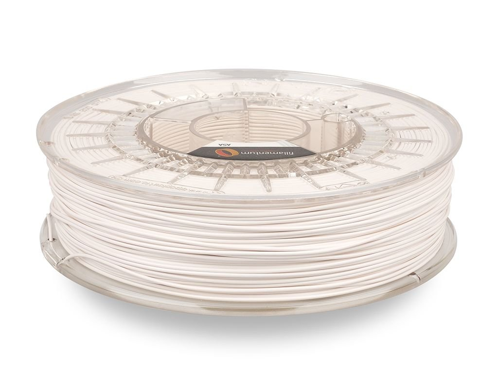 ASA Extrafill Snow white 1,75 mm 3D filament 750g Fillamentum