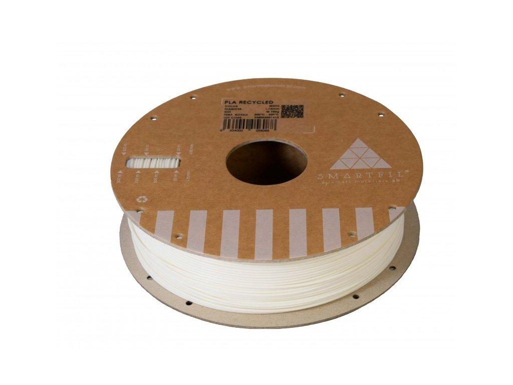 PLA filament z recyklátu bílý 1,75 mm Smartfil 0,75kg