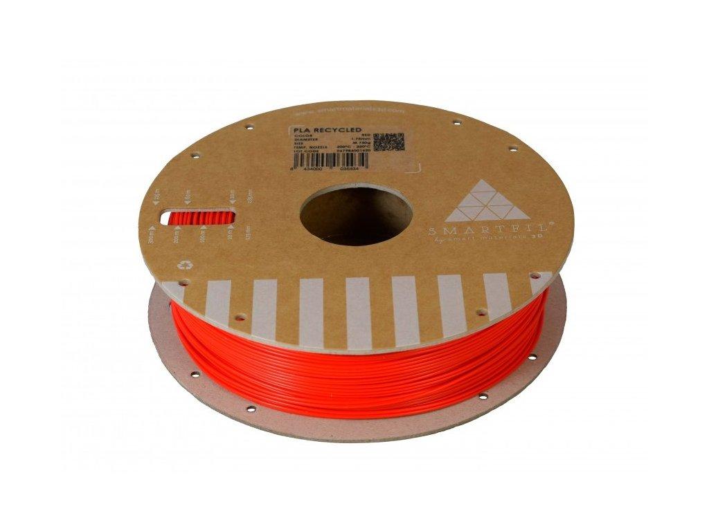 PLA filament z recyklátu červený 1,75 mm Smartfil 0,75kg