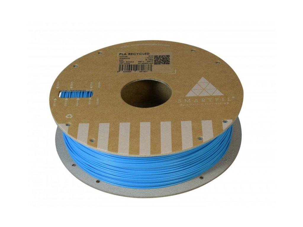 PLA filament z recyklátu modrý 1,75 mm Smartfil 0,75kg