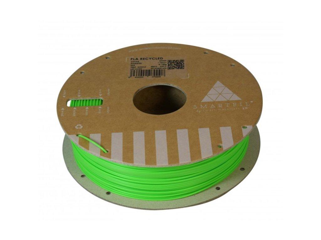 PLA filament z recyklátu zelený 1,75 mm Smartfil 0,75kg