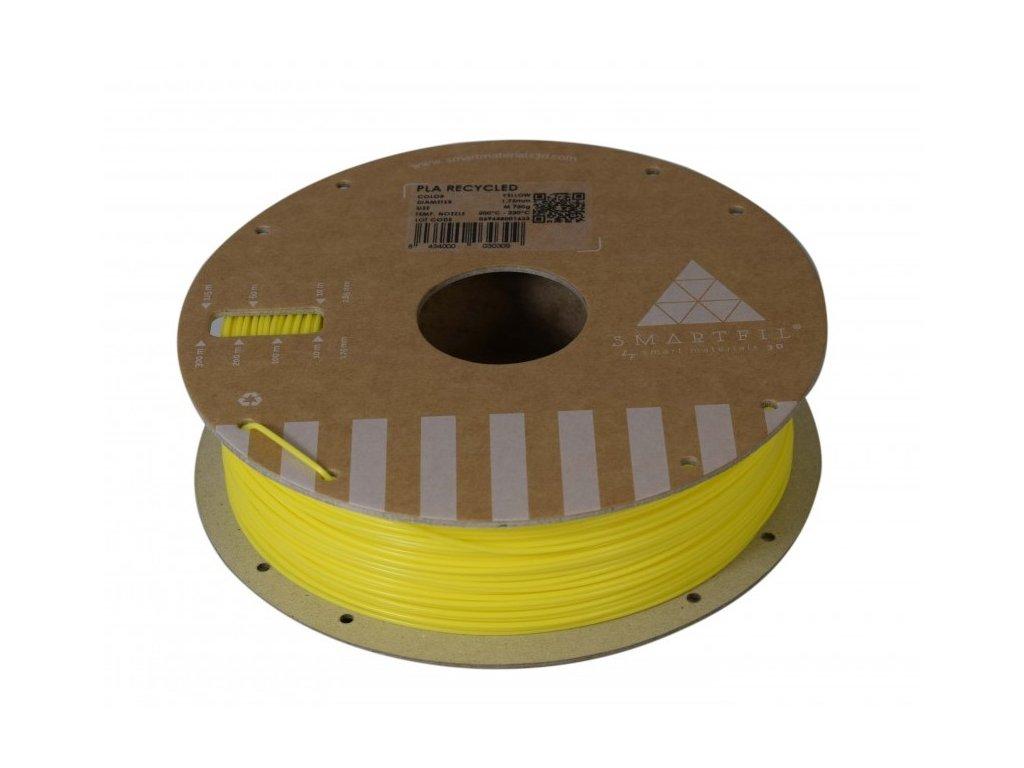 PLA filament z recyklátu žlutý 1,75 mm Smartfil 0,75kg